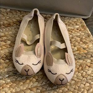 Cat & Jack Gold Bunny slip on shoes